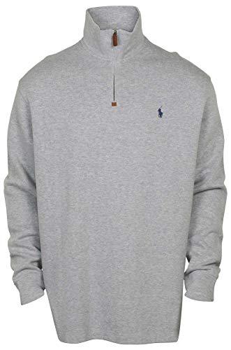 Polo RL Mens Half Zip Mock Neck Sweatshirt