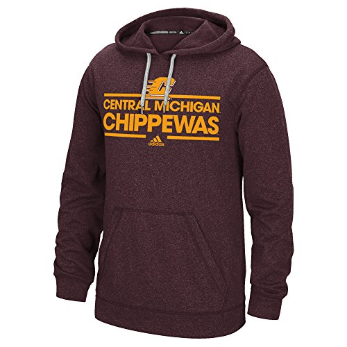 adidas NCAA Central Michigan Chippewas Men's Dassler Climawarm Ultimate Hood, XX-Large, Hero Brown image 1