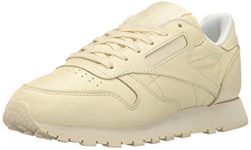 Reebok Women's Classic Leather Running Shoe, Washed Yellow/White, 8.5 M US image 1