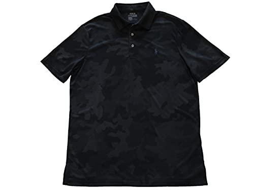 Ralph Lauren Polo Mens Moisture-Wicking Camouflage Print Polo Shirt (Medium, Black) image 1