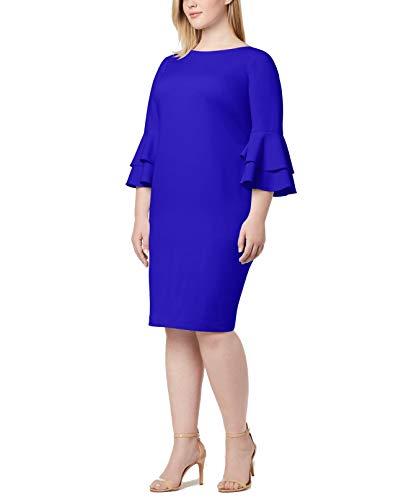 Calvin Klein Women's Size Tiered Bell Sleeve Dress, Capri, 14 Plus image 1