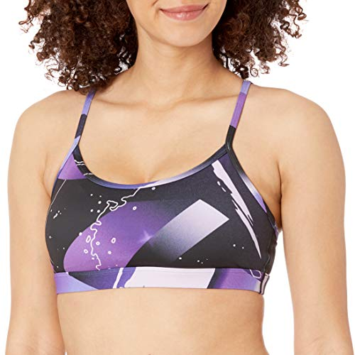 Reebok United by Fitness Graphic Sports Bra, Medium Impact, Dark Orchid, S image 1