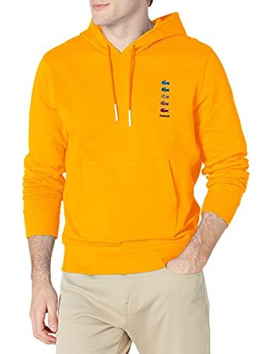 Lacoste Men's Long Sleeve Polaroid Croc Hooded Sweatshirt, Gypsum, M image 1