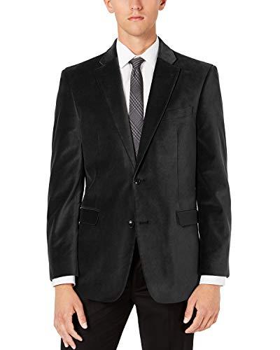Tommy Hilfiger Men's Classic Velvet Blazer, Black, 48R image 1