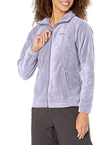 Columbia womens Benton Springs Fleece Jacket, Dusty Iris, Medium Petite US image 1