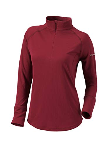 Columbia Golf Women's Omni-Wick Flop Shot Pullover (X-Large, Beet) image 1