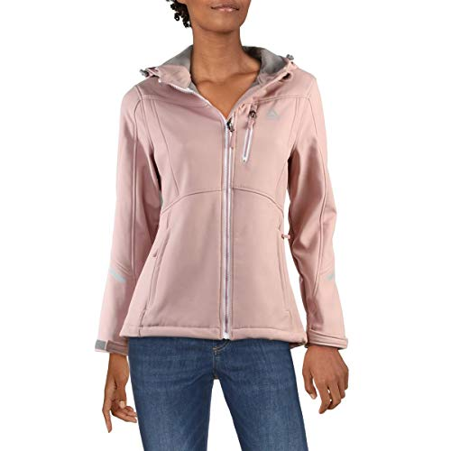 Reebok Women's Softshell Active Jacket, Cinched Back Dusty Rose, L image 1