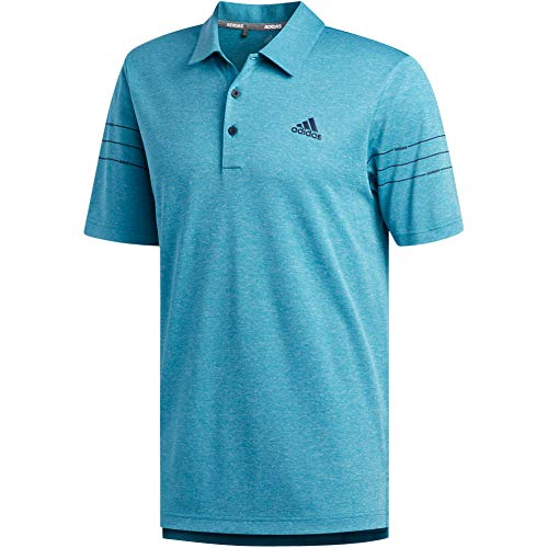 adidas Golf Men's Sport Print Polo, Active Teal, XX-Large image 1