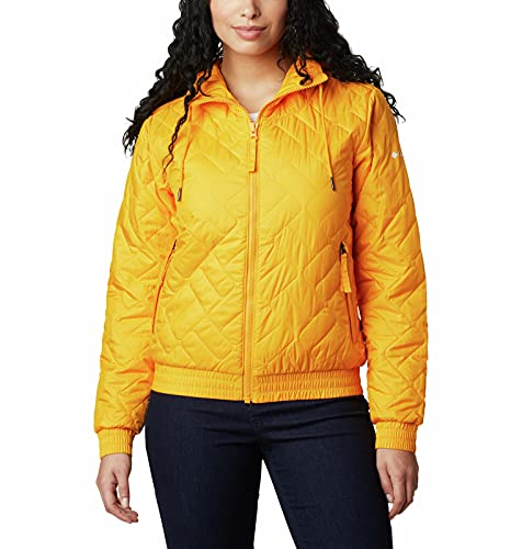 Columbia Women's Sweet View Insulated Bomber, Bright Marigold, X-Small image 1