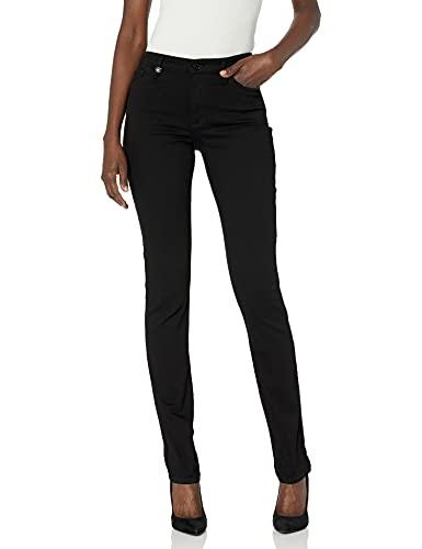 A X Armani Exchange Women's Recycled Super Stretch Denim Cigarette Jeans, Black, 31R image 1