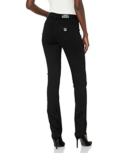 A X Armani Exchange Women's Recycled Super Stretch Denim Cigarette Jeans, Black, 31R image https://images.buyr.com/OV18L7E_5F95FA1EF43AD6BA420A01D5A55BB45266E003319255BE75EF5FB988454FF328-jkoh4DSX2r_f9v_5nyLONQ.jpg1