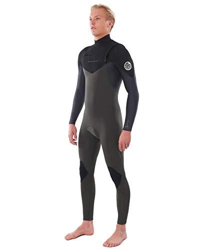 Rip Curl Mens Dawn Patrol Warmth 3/2mm Chest Zip Wetsuit - Dark Green - Easy Stretch Flash Lining image 1