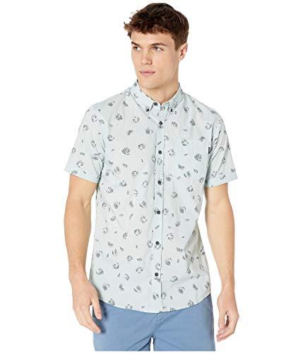 O'NEILL Men's Modern Fit Short Sleeve Button Down Shirt (Medium, Sky Blue/Fanfare) image 1