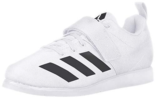 adidas Men's Powerlift 4 Weightlifting Shoe, White/Black/White, 17 M US image 1
