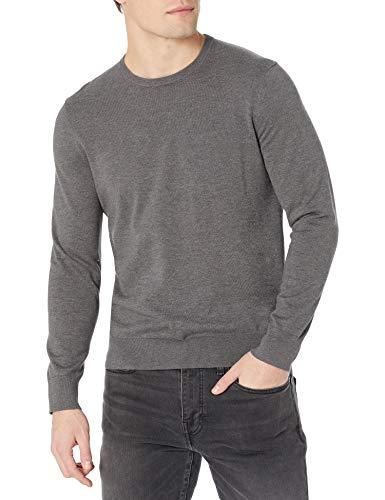 Calvin Klein Men's Supima Cotton Crewneck Sweater, Dark Cliff Heather, Small image 1