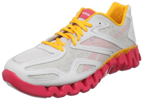 Reebok ZigSonic Running Shoe (Little Kid/Big Kid),Steel/Magenta/Thrwn Light,5.5 M US Big Kid image 1