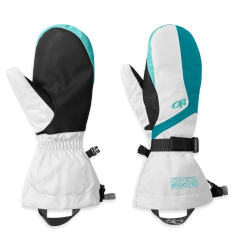 Outdoor Research Women's Adrenaline Mitts, White/Alpine Lake/Pool, Small image 1