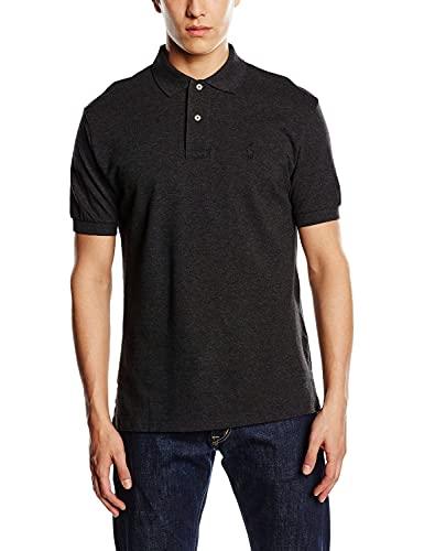 Polo RL Men's Classic Fit Mesh Pony Shirt (Black Heather 053, Medium) image 1