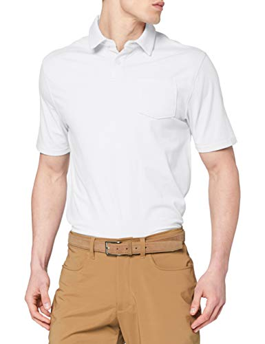 Under Armour Men's Charged Cotton Scramble Golf Polo, White (100)/Overcast Gray, XX-Large image 1