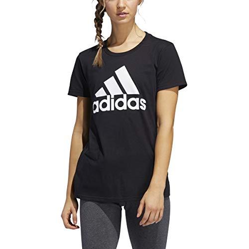 adidas Originals Women's 3-Stripes Tee (Black/Cloud White/Core Black, Small) image 1