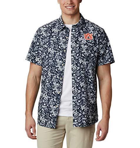 NCAA Auburn Tigers Men's Super Slack Tide Shirt, Small, AUB - Navy image 1