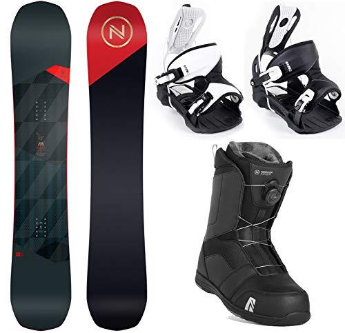 Flow Nidecker MERC 159 cm Men's Snowboard Package Bindings BOA Boots - 2021 (One Black/One White Binding, Boot Size 9) image 1