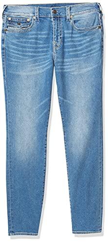 True Religion Men's Rocco Big T Skinny Fit Jean with Back Flap Pockets, Medium Beach Trail, 34W X 34L image 1