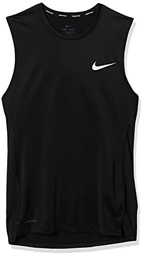 Nike Pro Compression Sleeveless Top BV5600-010 Size S Black/White image 1
