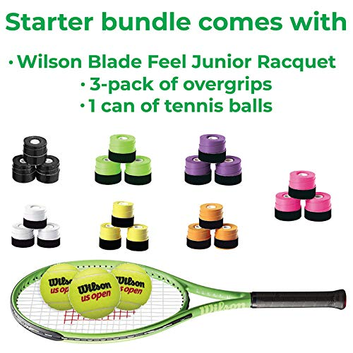 Wilson Blade Feel 26 Inch Pre-Strung Junior Tennis Racquet - Bundled with a 3-Pack of Black Overgrips and 1 Can of Tennis Balls (3 Balls) (Best Racquet for Young Beginner Players) image https://images.buyr.com/OV18L7E_87D96C6530378E7A2ECF3BF87960E5444744170BF69D0A3059A431EFDE0115F8-JDA7ldaFuozi2Gj66L3ALA.jpg1