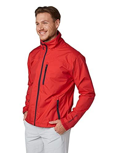 Helly Hansen Men's Crew Waterproof Windproof Breathable Rain Coat Jacket, 222 Alert Red, X-Small image 1