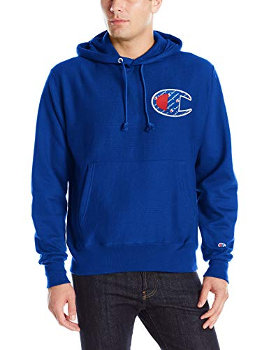 Champion Men's Reverse Weave Pullover, Big Left Chest C, Surf The Web-Y07472, LARGE image 1