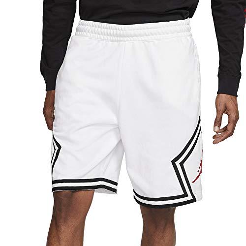 Jordan Jumpman Fleece Diamond Shorts Men's CV7317-100 Size 2XL White/Gym Red image 1