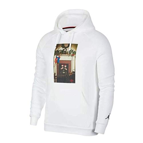 Nike Jordan Jumpman Chimney Men's Fleece Pullover Hoodie (XL) White image 1