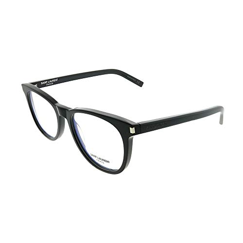 Saint Laurent SL 225 001 Black Plastic Square Eyeglasses 52mm image 1