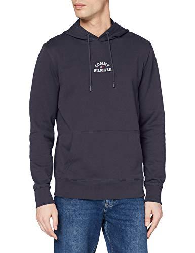 Tommy Hilfiger Men's Organic Cotton Embroidered Logo Hoodie L Blue (Desert Sky Dw5) image 1