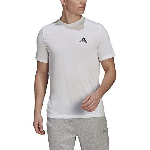 adidas mens FR Tee White/Black Large image 1