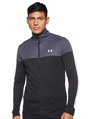 Under Armour Men's Sportstyle Pique Jacket , Stealth Gray (008)/White , Small image 1