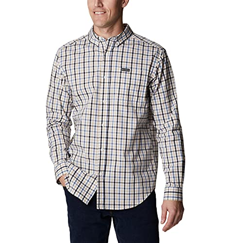 Columbia Men's Rapid Rivers II Long Sleeve Shirt, Bluestone Multi Gingham, Small image 1