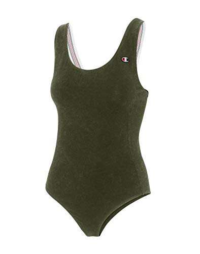 Champion Women's Tank Bodysuit, Camouflage Green, M image 1