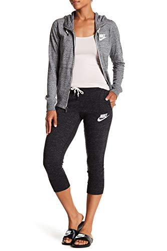 Nike Women's Gym Vintage Sport Casual Capris (Small, Black) image 1