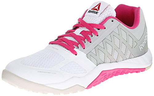 Reebok Women's ROS Workout TR-W, Steel/White/Charged Pink, 5.5 M US image 1