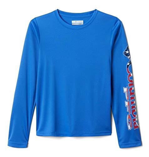 Columbia Youth Boys' PFG Terminal Tackle Long Sleeve Tee, Moisture Wicking, UV Protection, Vivid Blue, 3T image 1