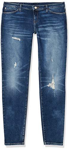 Emporio Armani Women's Skinny Leg Jeans, Medium Wash Denim Blue, 27 image 1