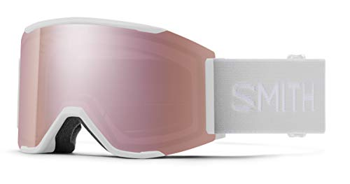 Extra Lens White Vapor 21 Smith Squad Snow Goggle Chromapop Everyday Rose Gold Mirror