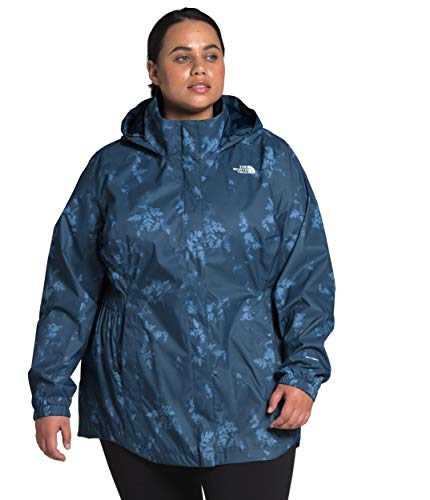 The North Face Women's Plus Resolve Parka II, Shady Blue Ferns Print, 1X image 1