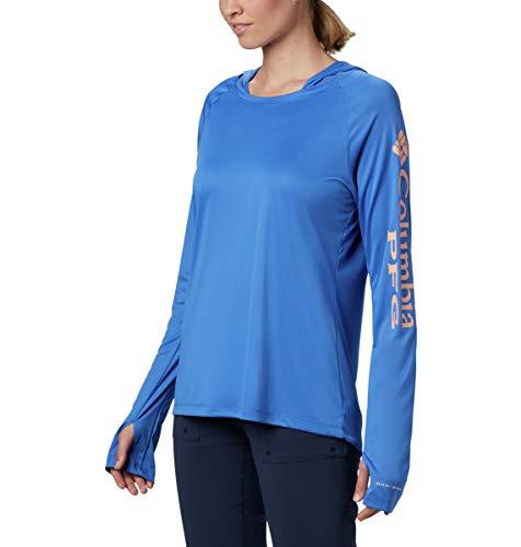 Columbia Women's Standard Tidal Tee Hoodie, Stormy Blue/Light Coral Logo, Medium image https://images.buyr.com/OV18L7E_AE3F1E02390A3AB1F8869A05CAFB1D348E2408E6330B7698102674FAF3F8D35D-3GoTgbwDrdBAfa-FZpMqdQ.jpg1