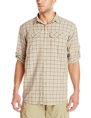 Columbia Sportswear Mens Silver Ridge Plaid Long Sleeve Shirt, Crouton Rip Stop Plaid, 2X image 1