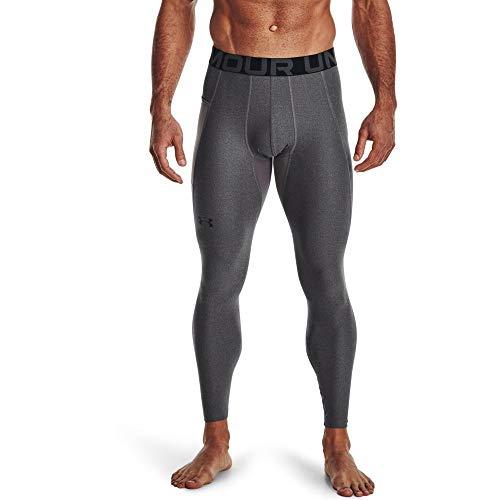 Under Armour Men's Armour HeatGear Leggings , Carbon Heather (090)/Black, Large image 1
