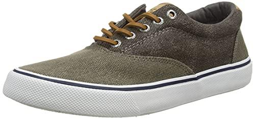 Sperry Men's Striper II CVO Nautical Sneaker, Olive Tonal, 4.5 image 1