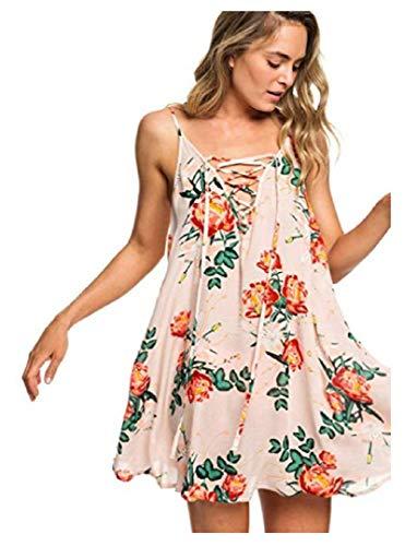 Roxy Women's Softly Love Printed Coverup Dress, Cloud Pink Gard, XS image 1